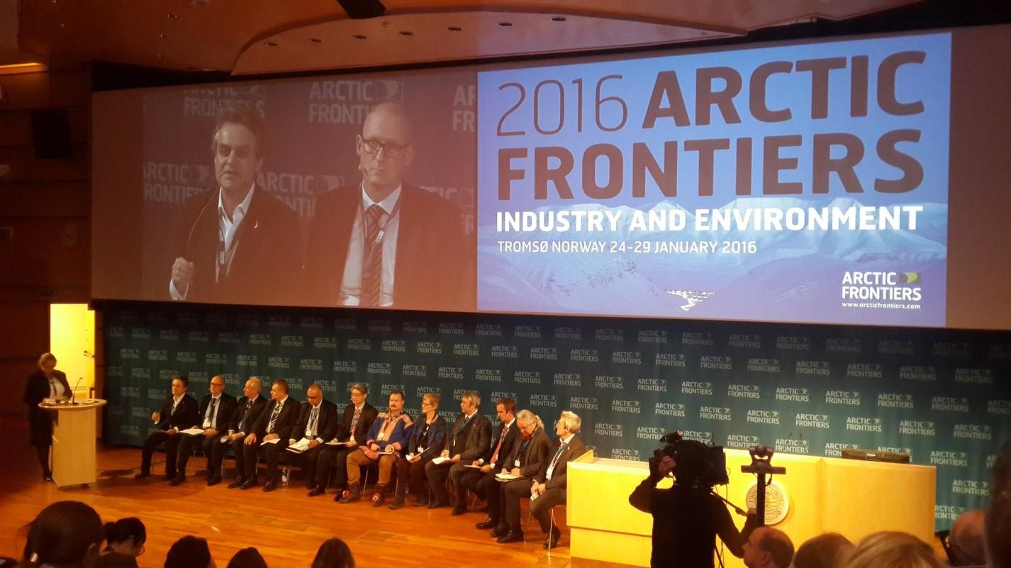 At the Arctic Frontiers (Photo by: Northern Forum)