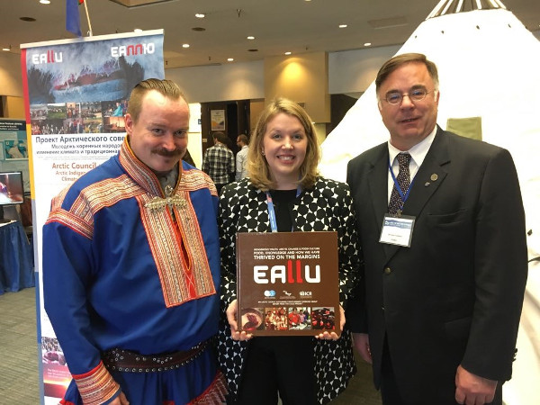 : ICR Director Anders Oskal, SDWG Chair Roberta Burns and SDWG Executive Secretary Bernard Funston