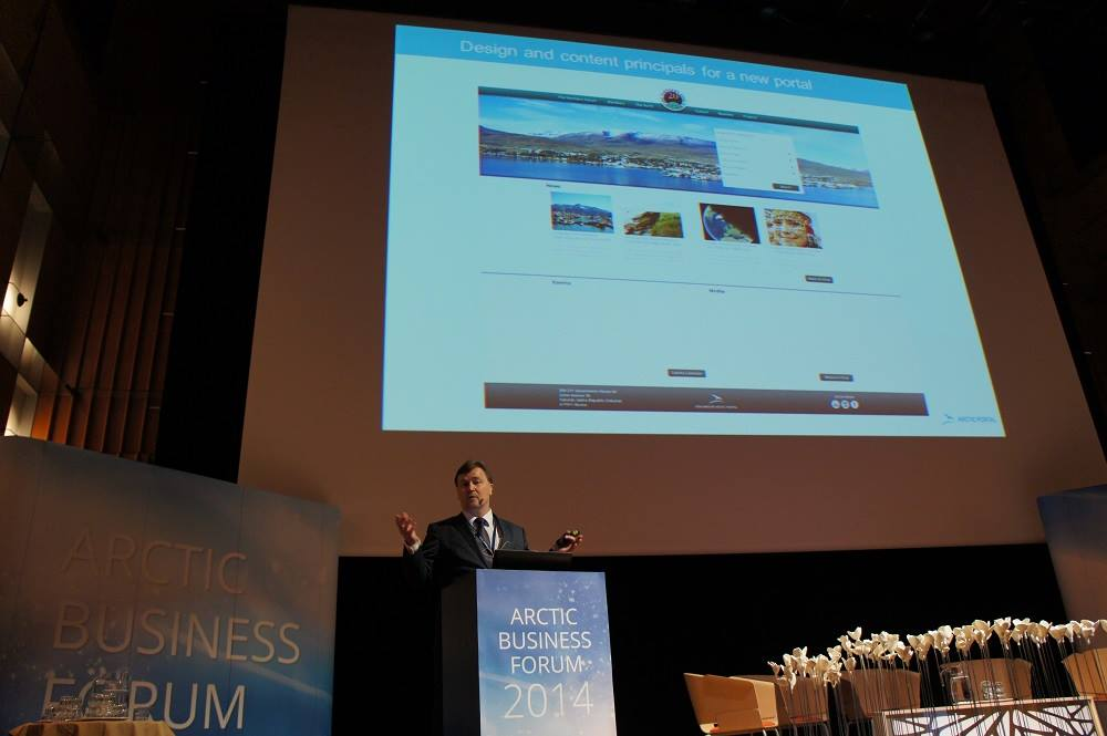 Halldor Johannson from Arctic Portal during the Arctic Business Meeting in Rovaniemi, Finland.