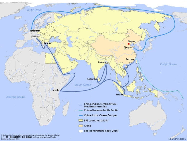 china blue economic route maritime one belt one road credit mia bennett