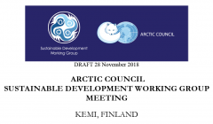 The SDWG fourth regular meeting of the Finnish Chairmanship in Kemi, Finland, 04-06 February 2019