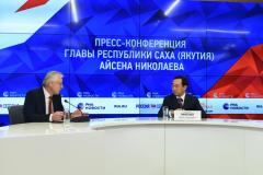 Press conference with head of the Sakha Republic (Yakutia) Aisen Nikolaev was held in Moscow