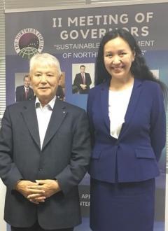 The 1st President of Yakutia visited Northern Forum Secretariat